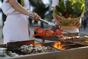beach bbq buffet, fresh catch seafood and meat bbq buffet, azure restaurant pullman danang beach resort