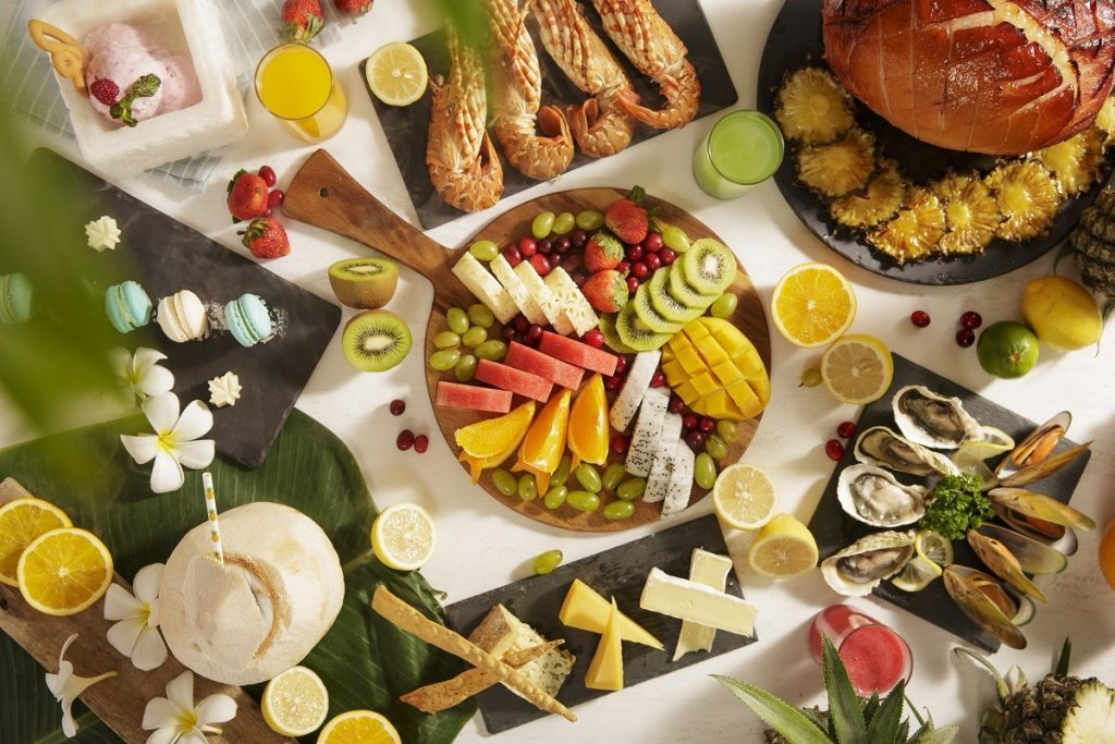 buffet in danang vietnam - pullman danang beach resort - bubbles, beats brunch