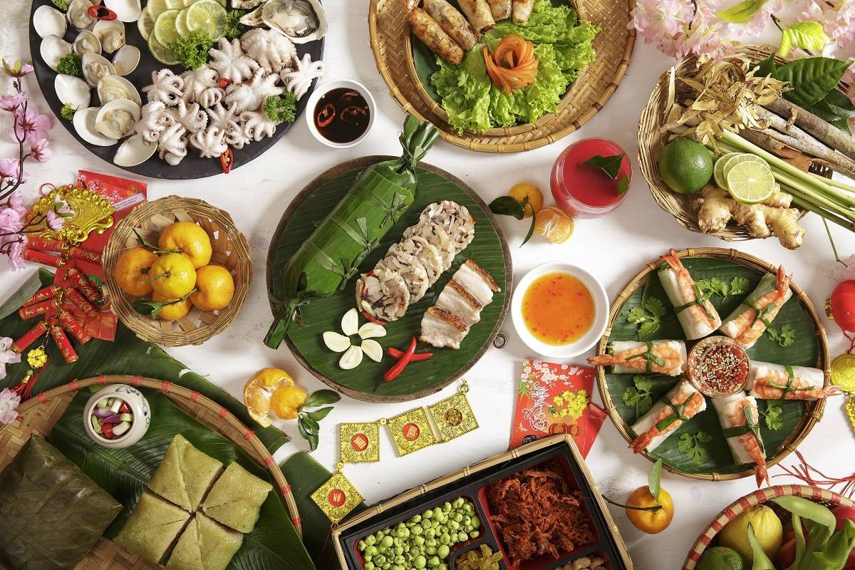viet street food buffet for the tết holidays- available every saturday in february 2019 special seafood buffet at 5 star luxury restaurants in danang central vietnam