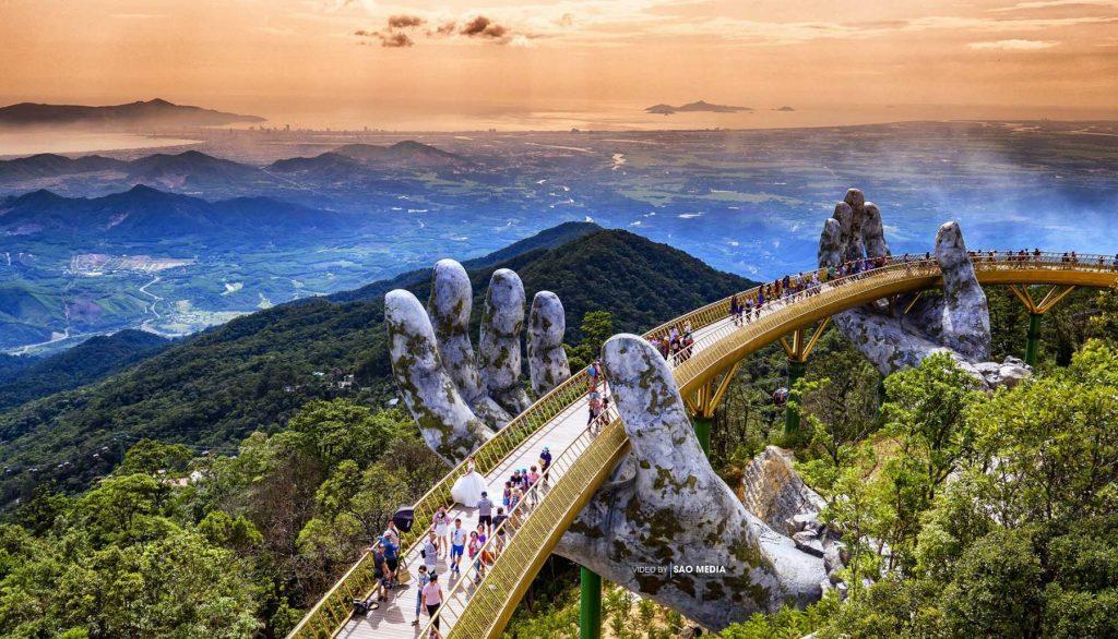 Bana Hills, Danang, four distinct seasons, golden bridge, french village