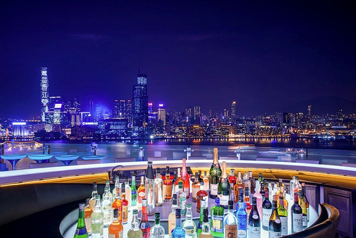 The Park Lane Hong Kong, Pullman Hotel, SKYE restaurant rooftop bar