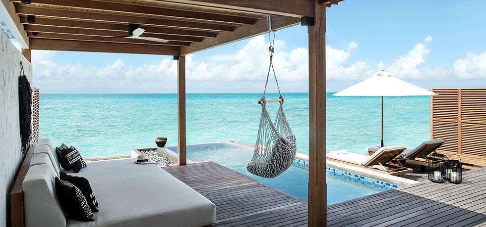 Fairmont Maldives Sirru Fen Fushi, luxury living style area, accor hotel, hotel netwwork