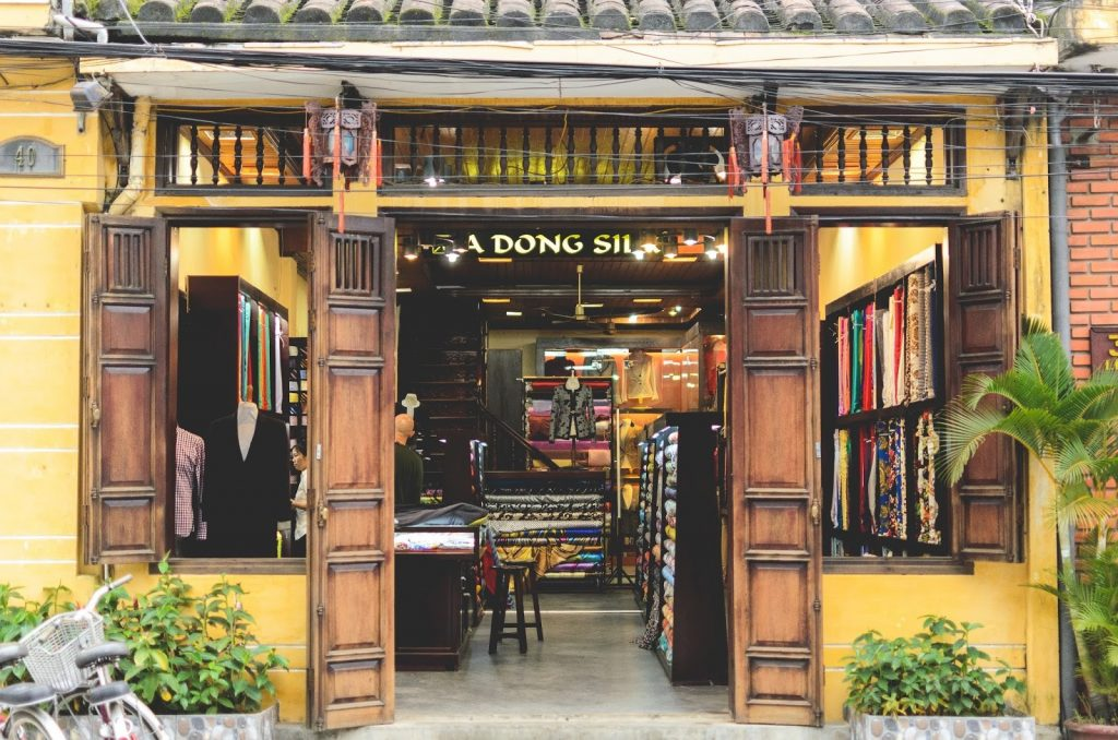 a dong silk, ao dai store in hoi an, custom made tailoring